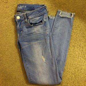 Light wash jeans